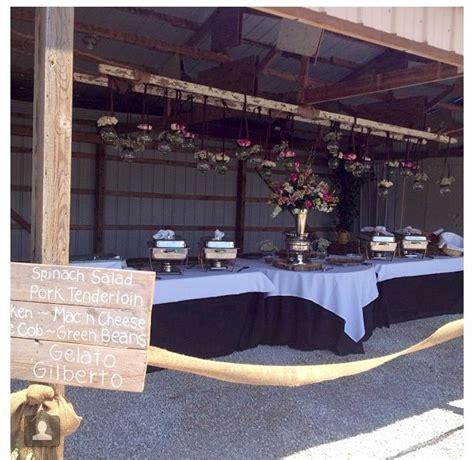 Backyard Wedding Buffet Menu Outdoor Wedding Buffet With Diy Menu Sign November 1
