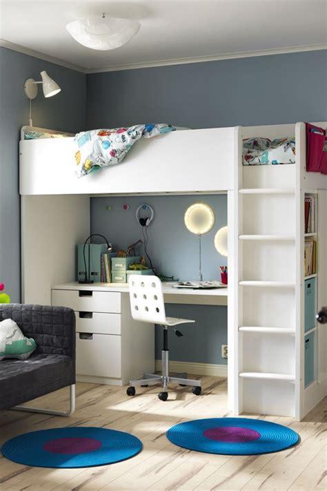 kids bedroom sets with desk stuva loft bed combo w 2 shlvs 3 shlvs white kids