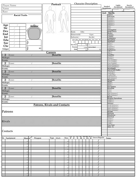 traveller template traveller character sheet pictures to pin on