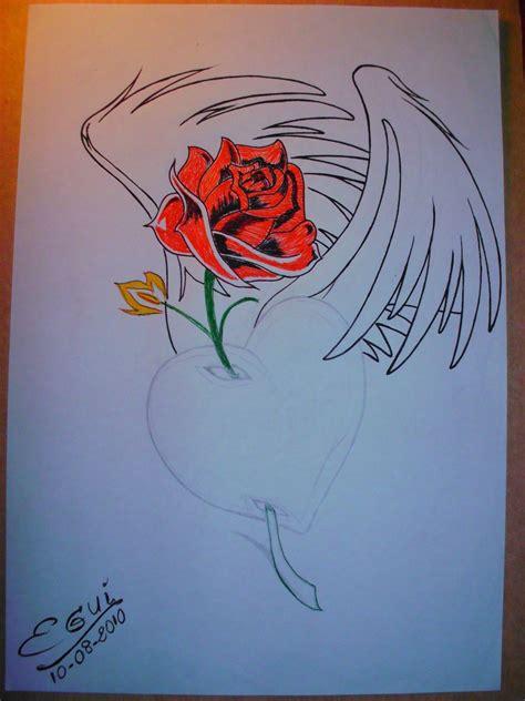 imagenes a lapiz de corazones con alas the gallery for gt dibujos de corazones con alas para dibujar