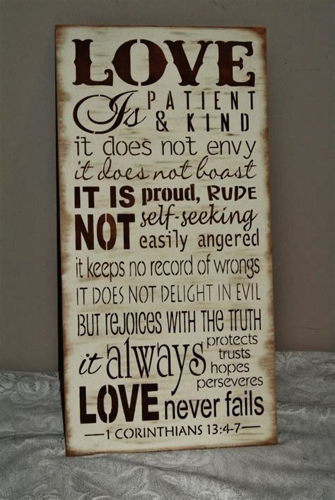Wedding Bible Verses Is Patient is patient is corinthians bible verse wood