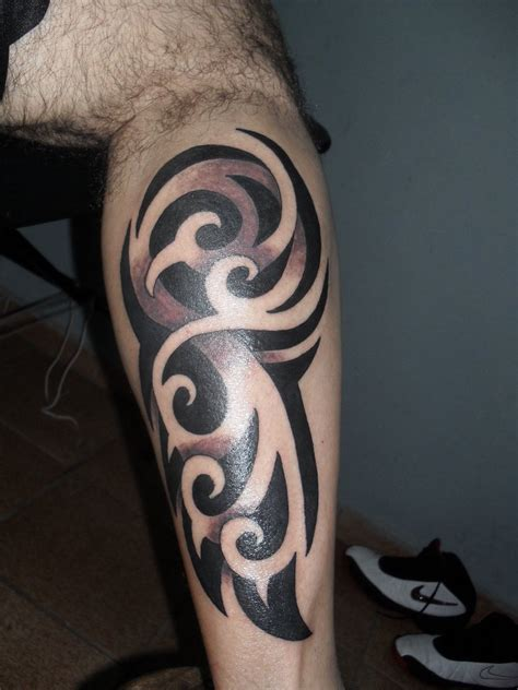 15 unique tribal calf tattoos only tribal