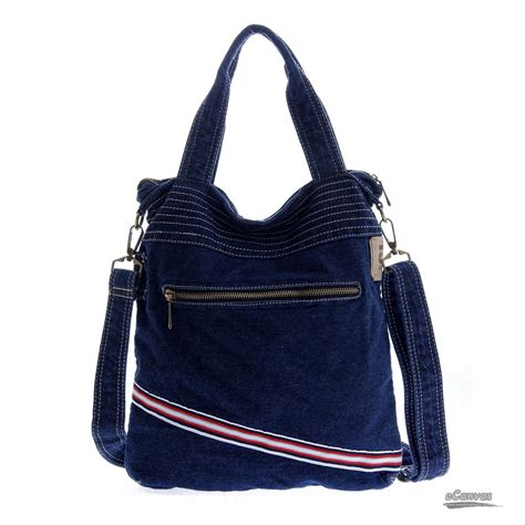 Denim Bag denim shoulder bag fashionable bag navy bag e