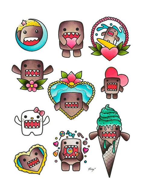 domo tattoos domo flash print flash and printing