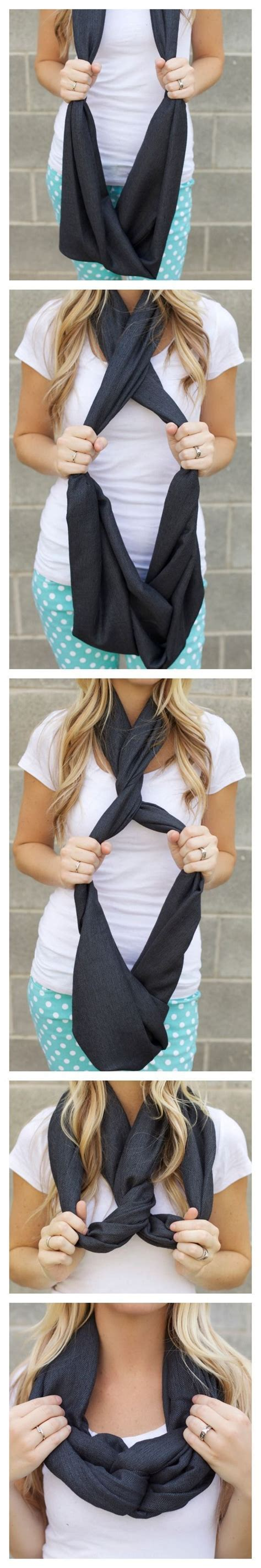Ways To Tie An Infinity Scarf Another Way To Tie An Infinity Scarf My Style