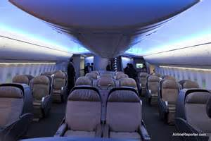 taking an interior tour of the boeing 747 8