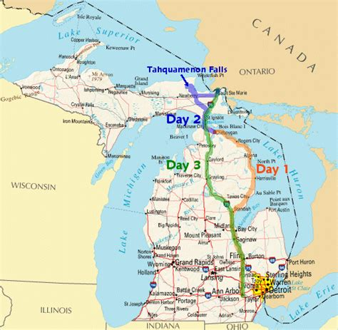 michigan state map pin mi state map on