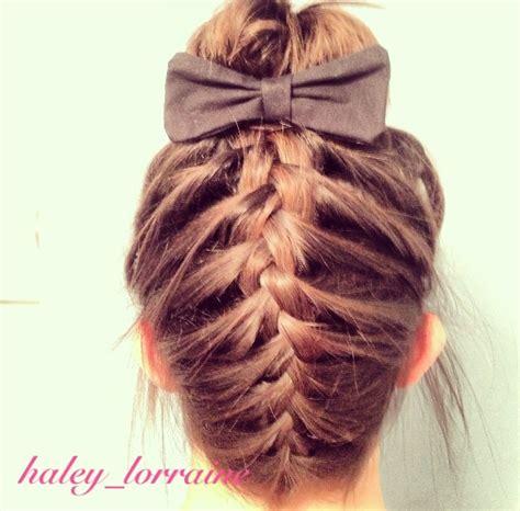 cute hairstyles medium hair braids shoulder length braided sock bun hair cute hair designs