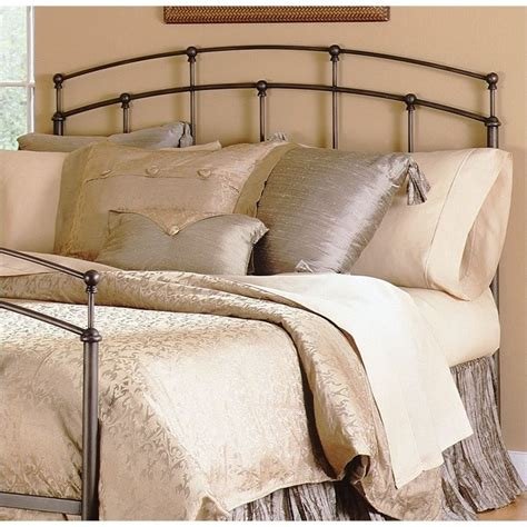 Black Metal Headboard Fashion Bed Fenton Metal Black Walnut Finish