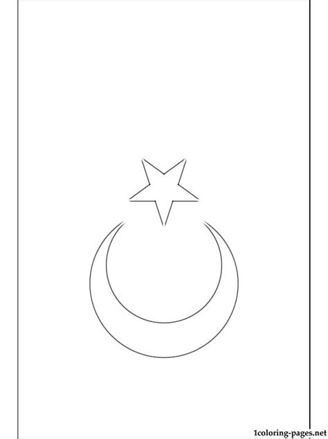 turkey flag coloring page coloring pages