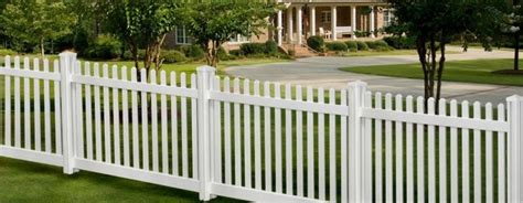 white composite picket fence fence ideas