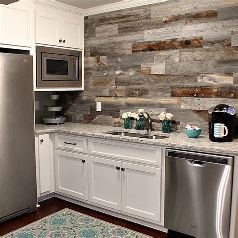 barnwood backsplash diy home sweet home beautiful kitchen backsplash ideas