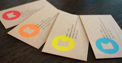 Printing On Craft Paper - kraft paper business cards