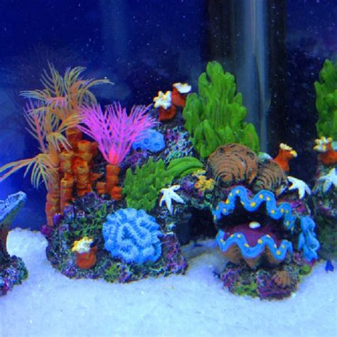 Artificial Coral Reef Aquarium Decorations by 2016 New Arrival Aquarium Artificial Mounted Coral Reef