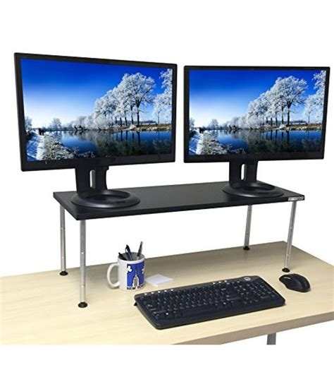 adjustable monitor stands for desk height adjustable monitor stand largest stand available