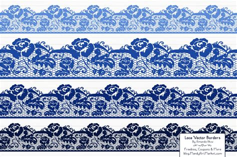 Wedding Lace Border Clip by Royal Blue Wedding Clipart 58