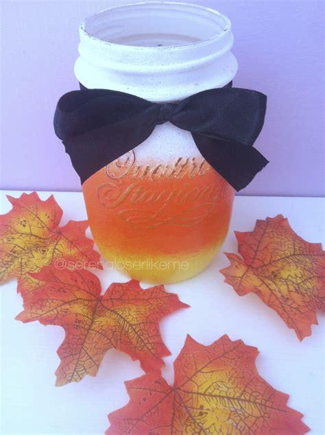 diy fall halloween room decor candy corn mason jar