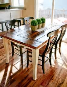 Dining Room Table Stylish Farmhouse Dining Tables Airily Romantic Or Casual