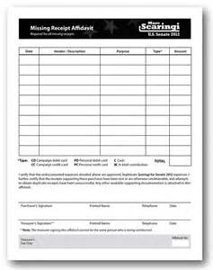lost receipt template lost receipt affidavit image mag