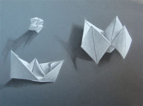 Drawing Origami - the smartteacher resource charcoal origami drawing