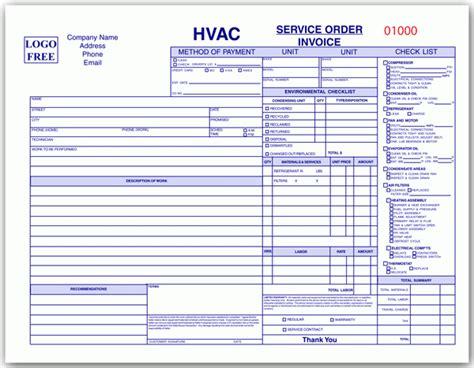 hvac service order invoice template hvac order form hvac service order invoice template
