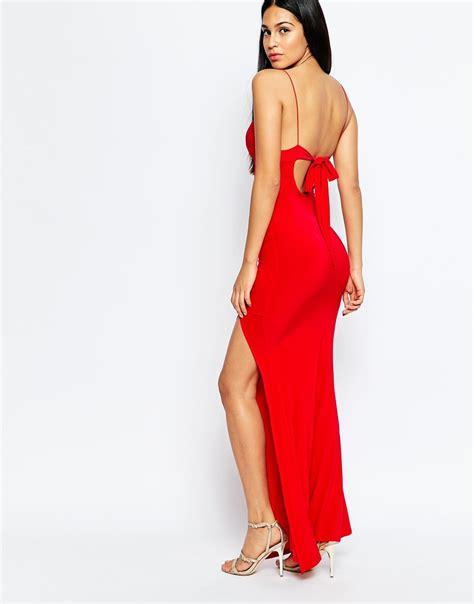 L Dress by Club L Slinky Fishtail Maxi Dress In Lyst