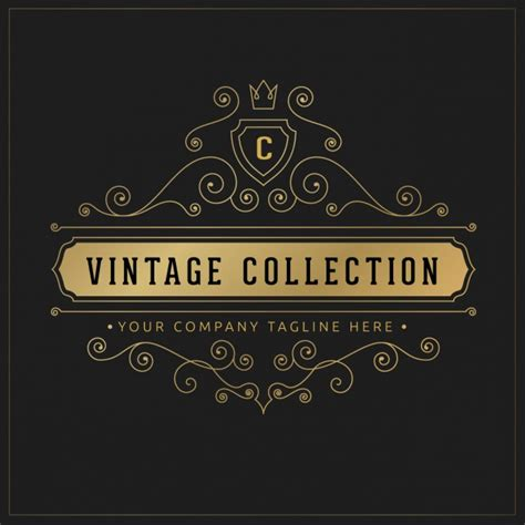 vintage logo template vector free download