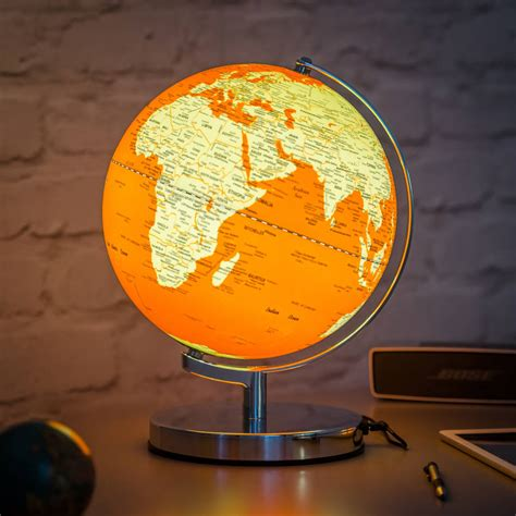globe lights illuminated led globe light in goldfish orange by