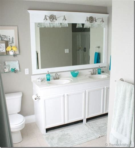bathroom mirror frame ideas best 25 large bathroom mirrors ideas on