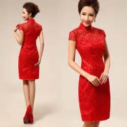 Embroidered short qipao chinese red cheongsam bridal wedding dress 002