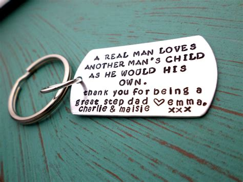 step dad keychain stepfather gift step dad gift thank you