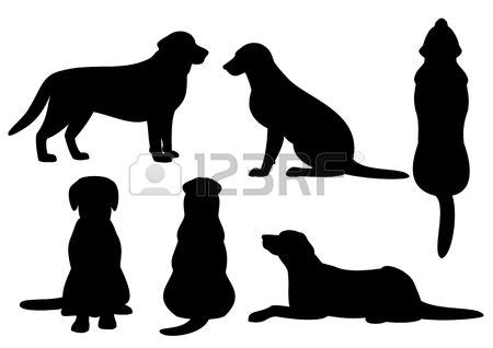 stock vector dog silhouette silhouette painting silhouette