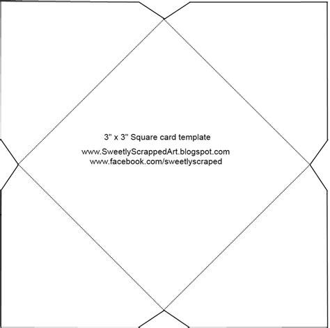 Square Envelope Template cards mini notecards and envelopes sweetly scrapped s