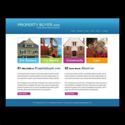 Property Buyer Simple Website Template Design Psd Purchase Website Templates