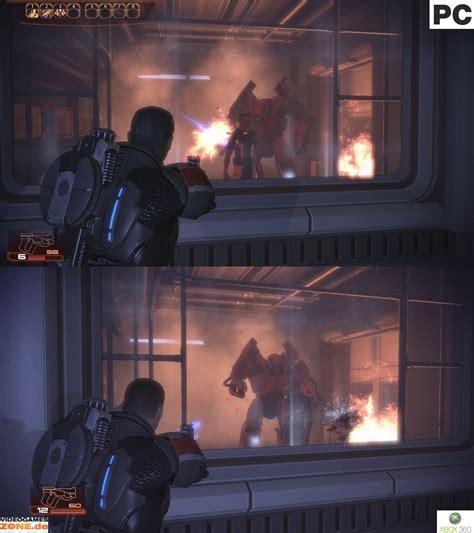mass effect 2 console mass effect 2 confronto pc xbox 360 in tre screenshot