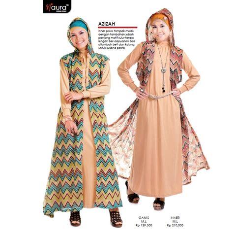 Gamis Batik Azizah azizah by naura baju muslim gamis modern