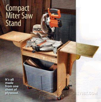 wood storage  miter  stand plans woodarchivist