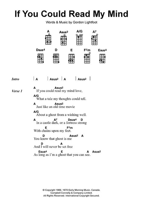 gordon lightfoot if you could read my mind if you could read my mind sheet music by gordon lightfoot