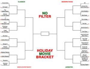 The no filter holiday movie bracket is here fill out yours now fox