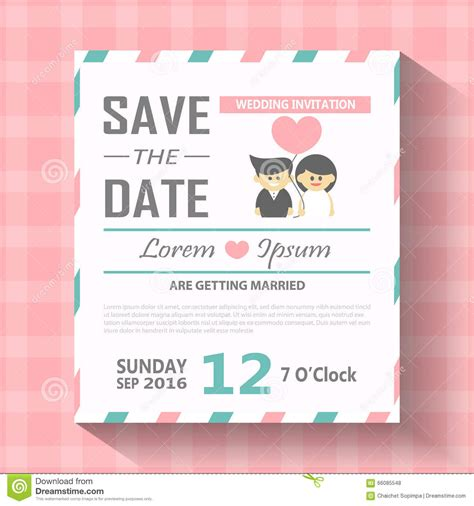 wedding invitation card template vector illustration