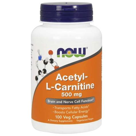 Acetyl L Carnitine Detox by Evitamins Now Foods Acetyl L Carnitine 500 Mg 100