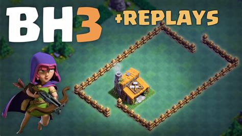 builder boat on clash of clans builder hall 3 bh3 base replays clash of clans