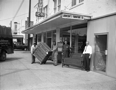 florida memory employees at work in front of johnson