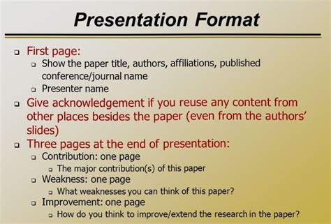 research paper presentation format how to write speech and presentation with exle at