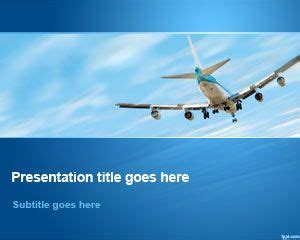 Free Aviation Powerpoint Template Airplane Powerpoint Template