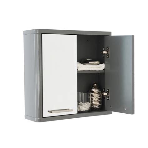 White Gloss Bathroom Storage by Sleek Grey Or White Gloss Bathroom Storage Units Ebay