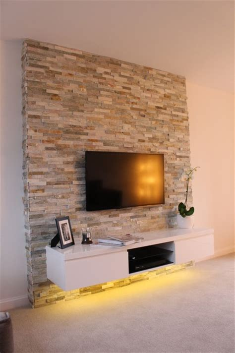 Houzz Living Room Feature Wall Feature Wall Project Contemporary Living Room East