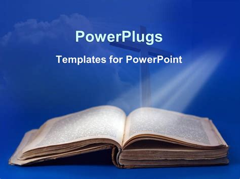 Powerpoint Template An Old Bible And Cross For Religious Biblical Powerpoint Templates