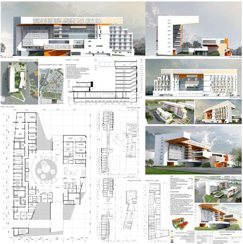 architectural projects hotel l arc architecture hotel render 3dmodel