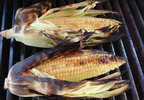 recipe for grilled corn on the cob grilled in husks